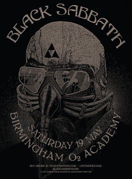 Black sabbath birmingham o2 academy show poster