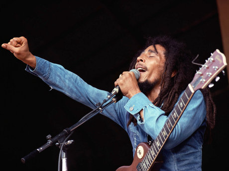 Bob marley performing live