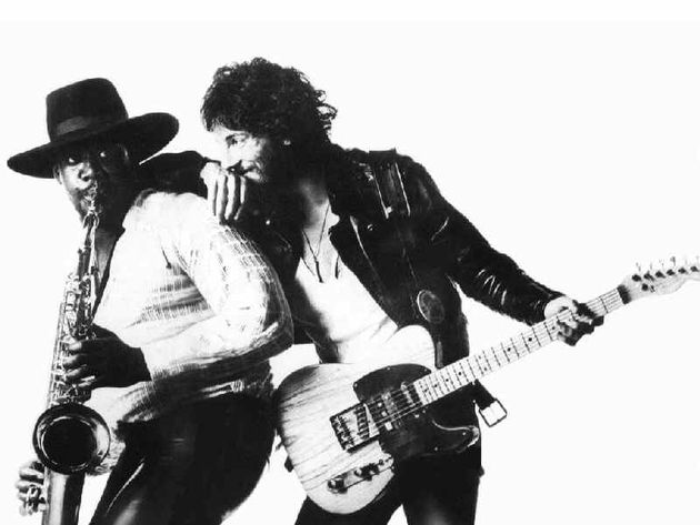 Clarence Clemons and Bruce Springsteen as they appear on 1975's Born To Run
