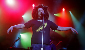 Adam duritz on stage