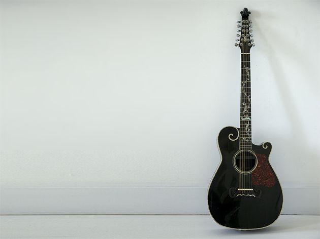 George Harrison turned Stewart on to Ferrington guitars. Here's Stewart's 12-string that he says is perfect for leads