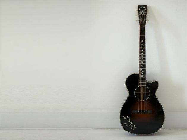 "Stewart's handmade Rockbridge is ""small bodied but loud"""