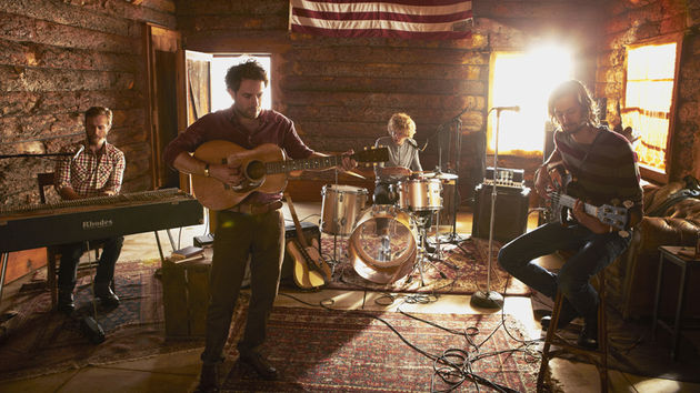 Dawes (from left: Tay Strathairn, Taylor Goldsmith, Griffin Goldsmith and Wylie Gelber) hit the road with Bob Dylan before the release of Stories Don't End