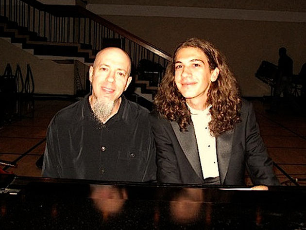 The Fabulous Baker Boys? No, it's Jordan Rudess from Dream Theater along with 18-year-old prodigy Eren Basbug