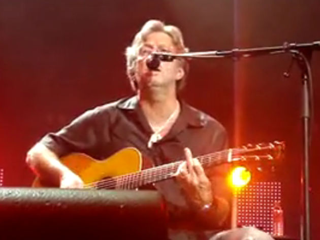 Is Slowhand giving us the finger?  Nahhhh.
