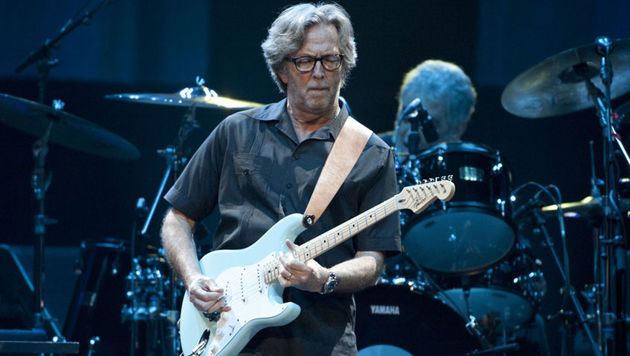 Eric Clapton playing live in 2011