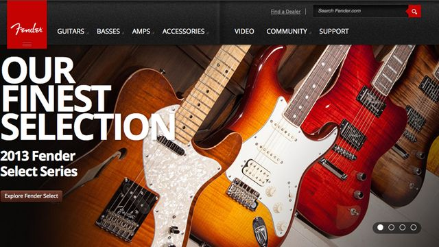 Check out Fender's new online presence, it's got both bells and whistles...