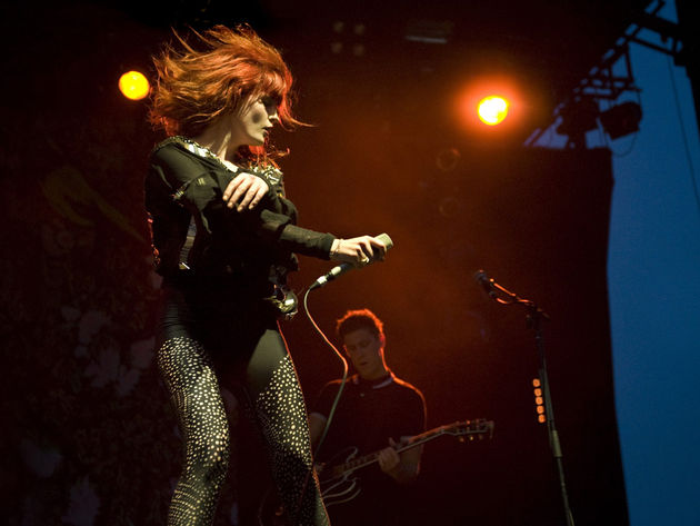 Florence and the Machine on stage in Australia last month.