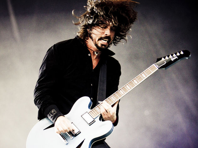 Dave Grohl onstage at T In The Park, 2011