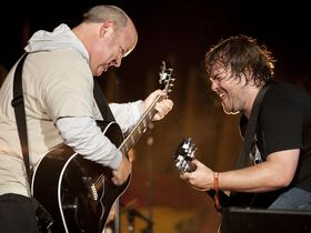 VIDEO: Tenacious D rock acoustics at Guitar Center Drum Off