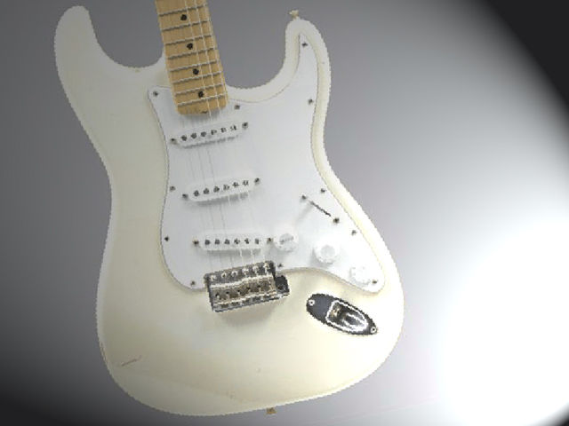 The white 'Woodstock' Strat