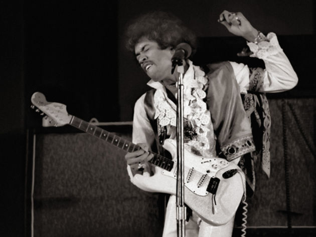 Jimi Hendrix, appearing soon at the Jiffy Lube Center? Hey, it could happen!