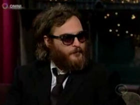 'Rapper' Joaquin Phoenix makes bizarre Letterman appearance