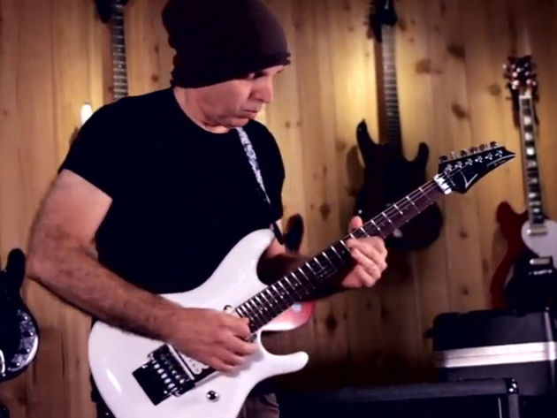 Want to know how to play Joe Satriani's Flying In A Blue Dream? You might get some pointers here