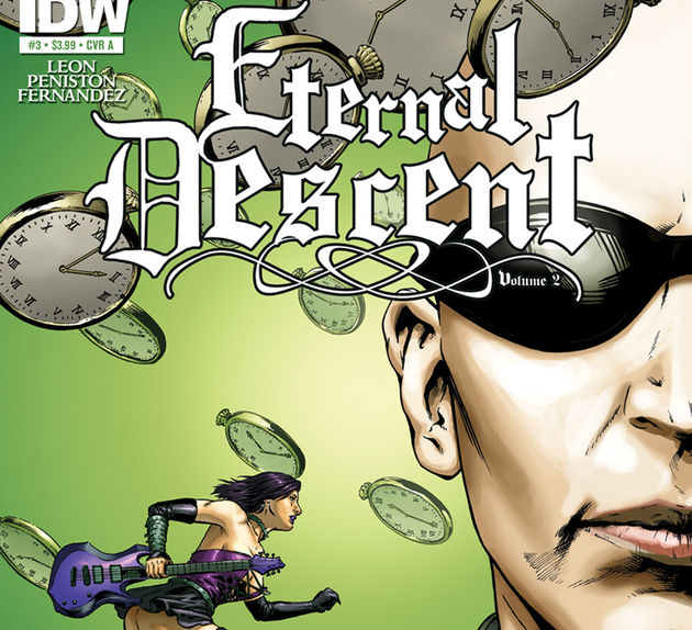 A close-up of the Time Machine Eternal Descent cover