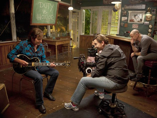 John Fogerty, actor, on the set