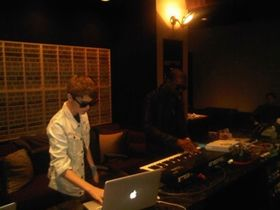 In the studio with Kanye West… and Justin Bieber