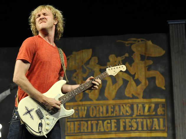Shepherd wails with his signature Strat in New Orleans, 2010
