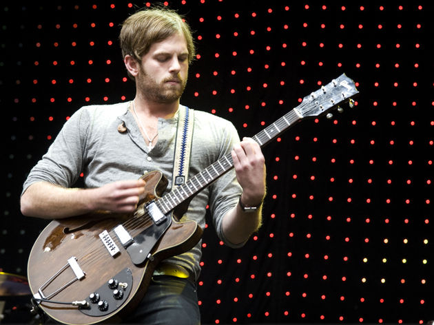 Caleb Followill and his now-deceased Gibson ES-325