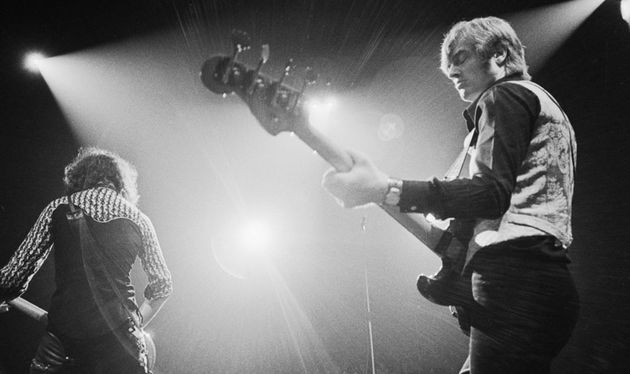 Led Zeppelin's secret weapon, John Paul Jones, onstage in the '70s