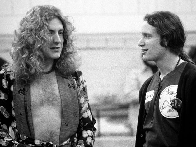 Goldberg backstage with Robert Plant, 1975