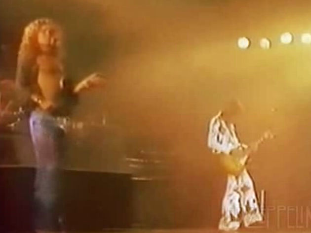 Zep perform Achilles Last Stand in LA, 1977