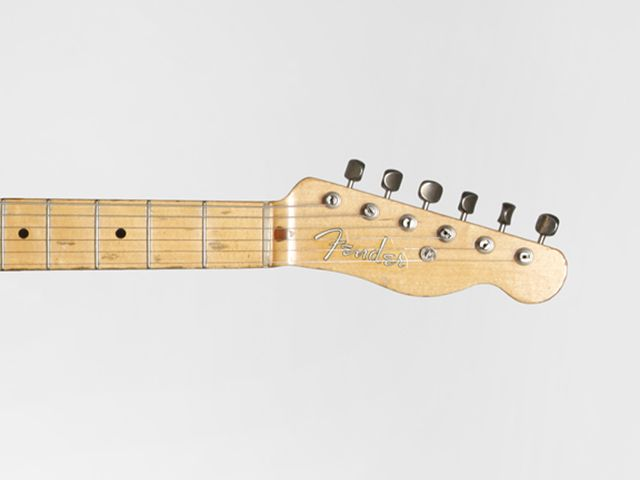 1951 Fender Nocaster serial number 1751 (headstock detail)