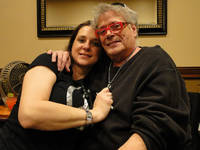 Leslie West and his wife Jenni West