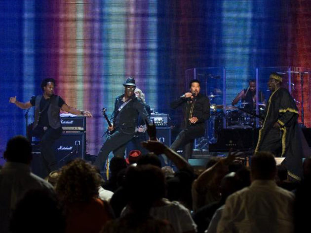 Easy does it: the not-quite-reformed Commodores on stage in New Orleans.