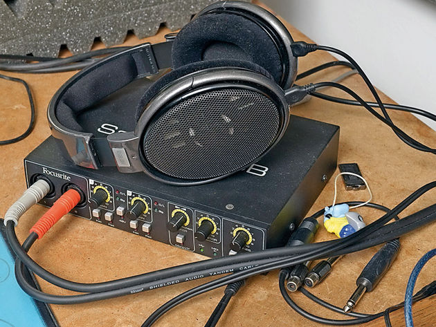 Sennheiser HD650 headphones and Focusrite Saffire 6