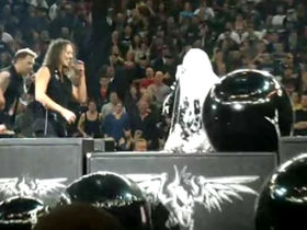 Metallica's Lars Ulrich gets pelted with pies