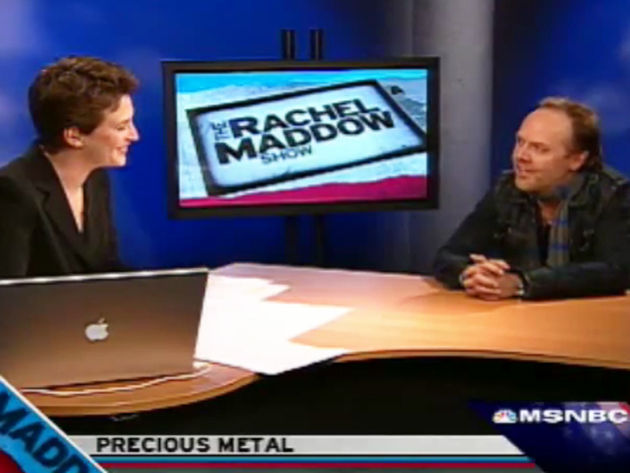 Admitted 'fan girl' Maddow interviews Ulrich
