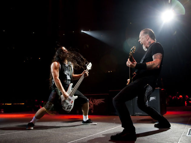 James Hetfield (right) and Robert Trujillo