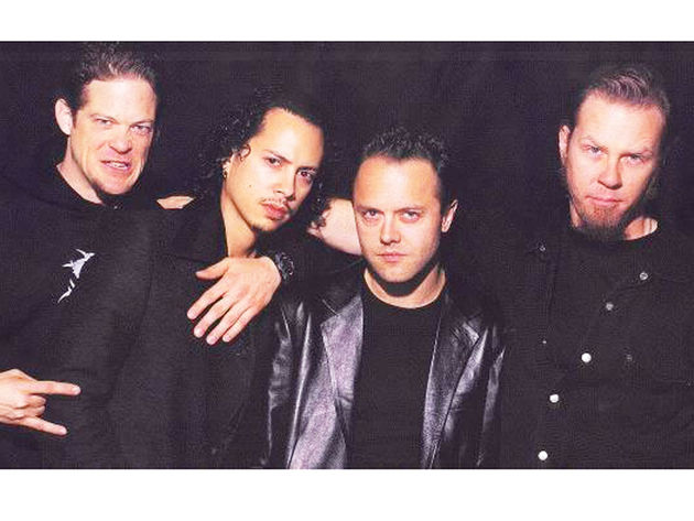 Metallica with Newsted (left). There is none more 'Black'