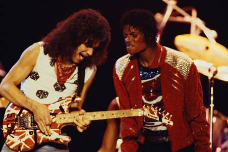 Michael Jacksons Lead Guitarists Eddie Van Halen Slash Jennifer