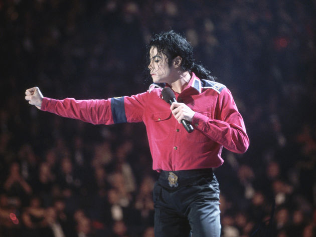 Michael Jackson performing at the pre-inaugural gala in 1993