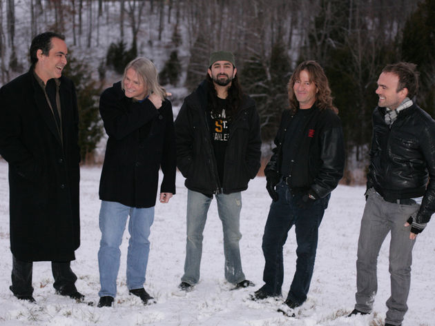 Outstanding in their field: Neal Morse, Steve Morse, Mike Portnoy, Dave LaRue and Casey McPherson