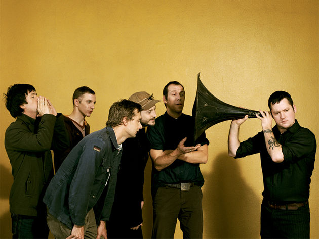 "Modest Mouse with Johnny Marr (far left): ""It's just a temporary arrangement lads, honest"""
