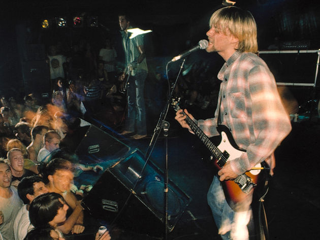 Kurt Cobain performs with Nirvana in Seattle, 1990