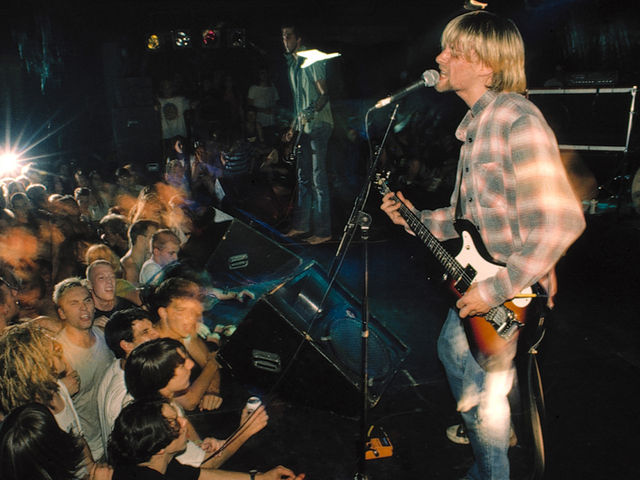 Nirvana live in Seattle, 1990, a year before Nevermind