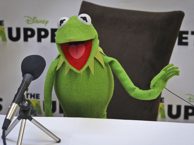 Kermit and his friends get their grunge on in the upcoming Muppets movie