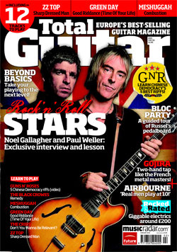 Total guitar noel gallagher paul weller