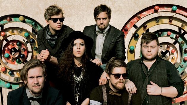 Big band, big sound. Brynjar Leifsson (second from left) with Of Monsters And Men