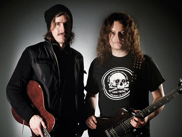Opeth guitarists Mikael Åkerfeldt and Fredrik Åkesson