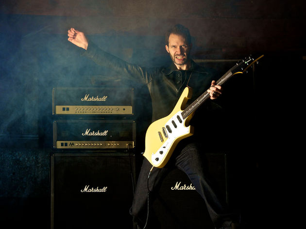 Paul Gilbert unwinding at home