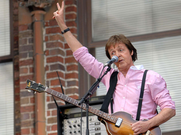 Paul McCartney outside the Ed Sullivan Theater in NYC, 2009