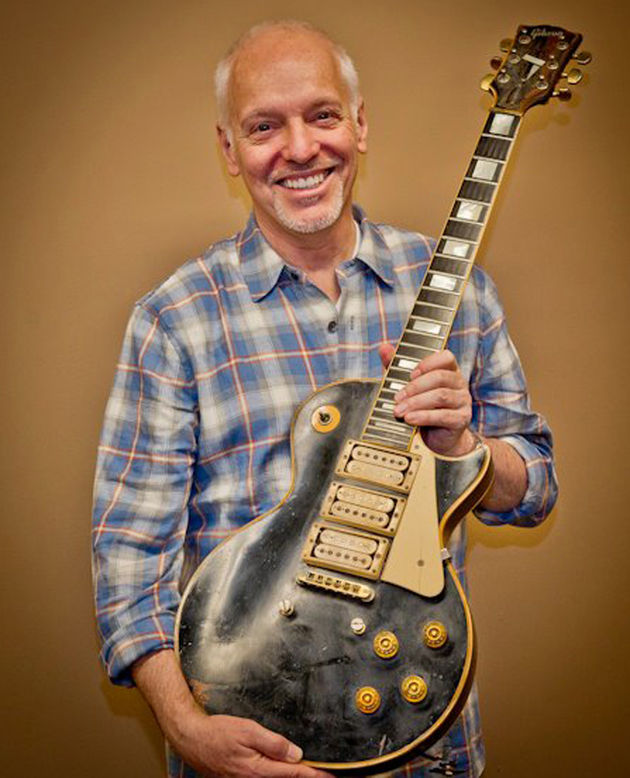 Reunited and it feels so good: Frampton with his '54 Les Paul today