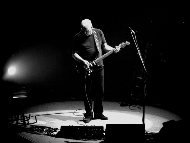 Gilmour onstage in Rome in 2006