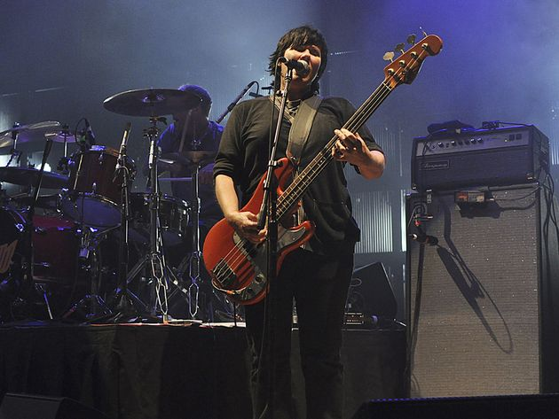 David Lovering and Kim Deal live at the Ryman Auditorium in Nashville, Tennessee in September 2010