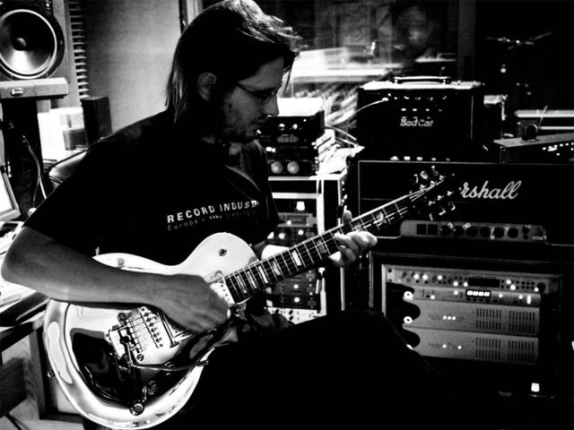 Porcupine Tree's Steven Wilson at work in the studio
